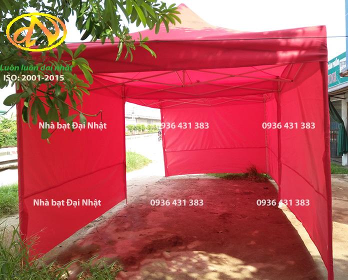 Nhà bạt di động 3mx6m màu đỏ