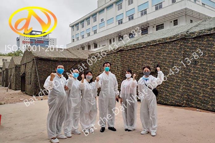 Nhà bạt dã chiến - xây dựng bệnh viện dã chiến bằng nhà bạt
