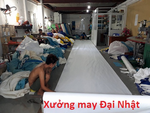 xưởng sản xuất dù